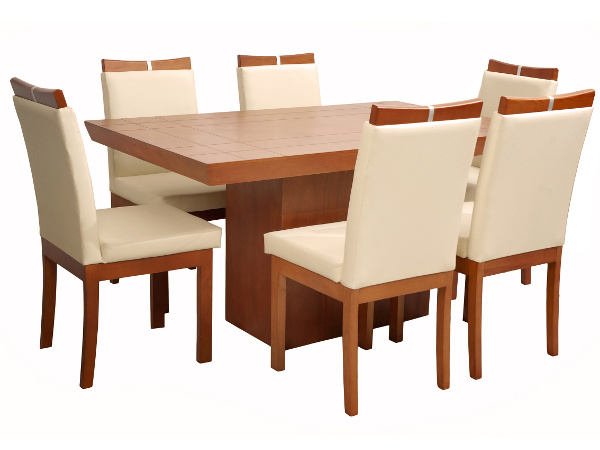 Mesa de comedor en madera for Modelos de mesas de comedor de madera